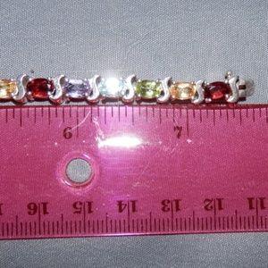 Jewelry - Multi-Gemstone Sterling SilverTennis Bracelet 7.25